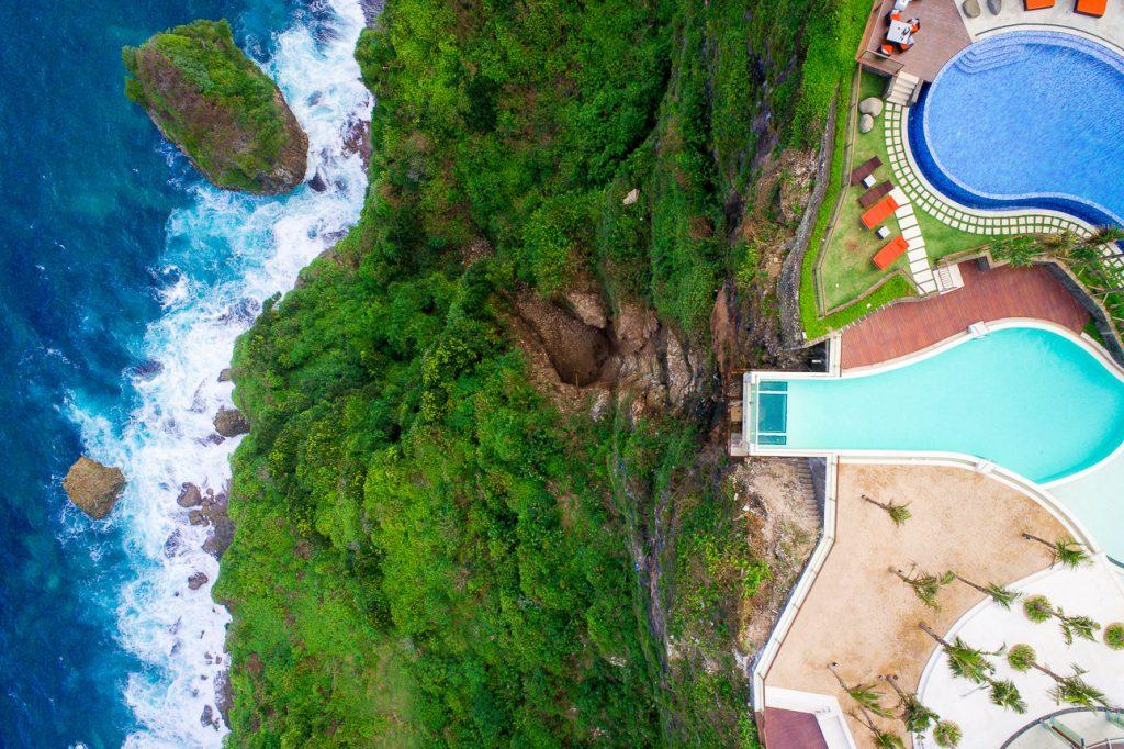The edge bali drone view