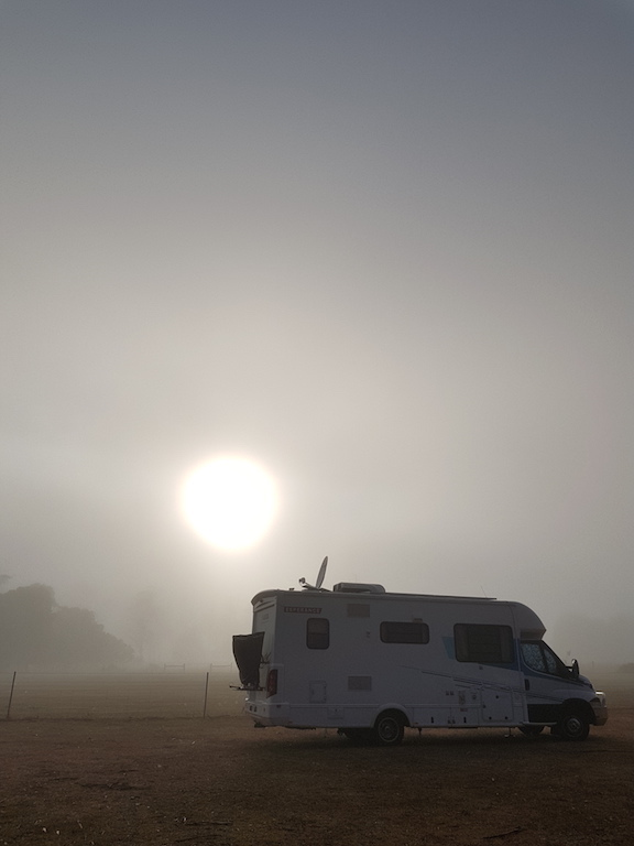 Van at sunrise Tasmania