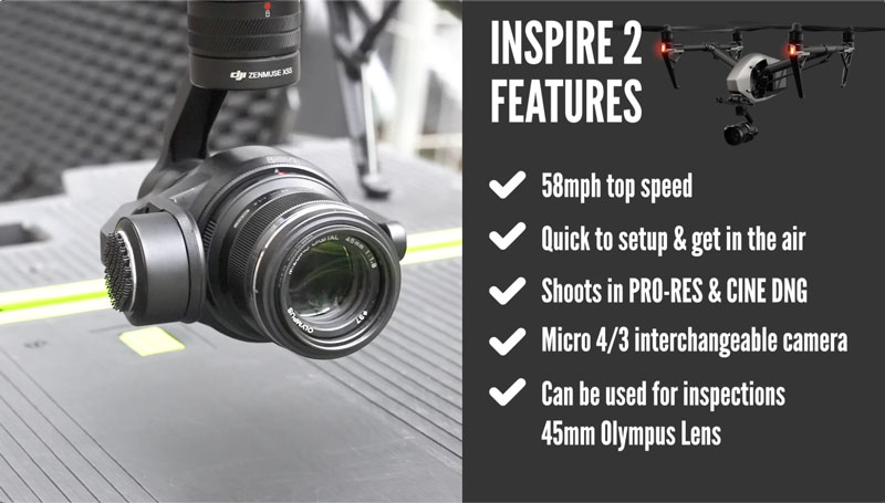 DJI Inspire 2 features
