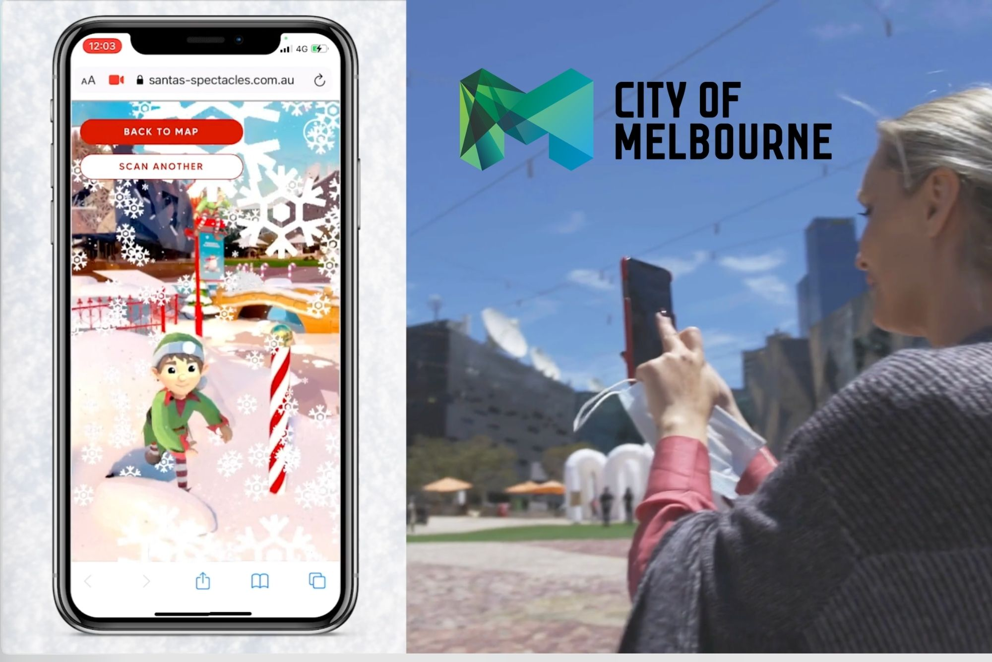 City of Melbourne AR 'Santas Spectacles' Experience